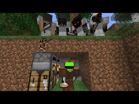 Minecraft Speedrunner VS 4 Hunters