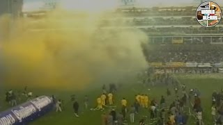 In 14.07.1996 Boca Juniors faced River Plate, with Diego Armando Maradona in the starting 11. The atmosphere in La Bombonera stadium was incredible for the superclasico which ended with a huge victory for Boca by 4-1.