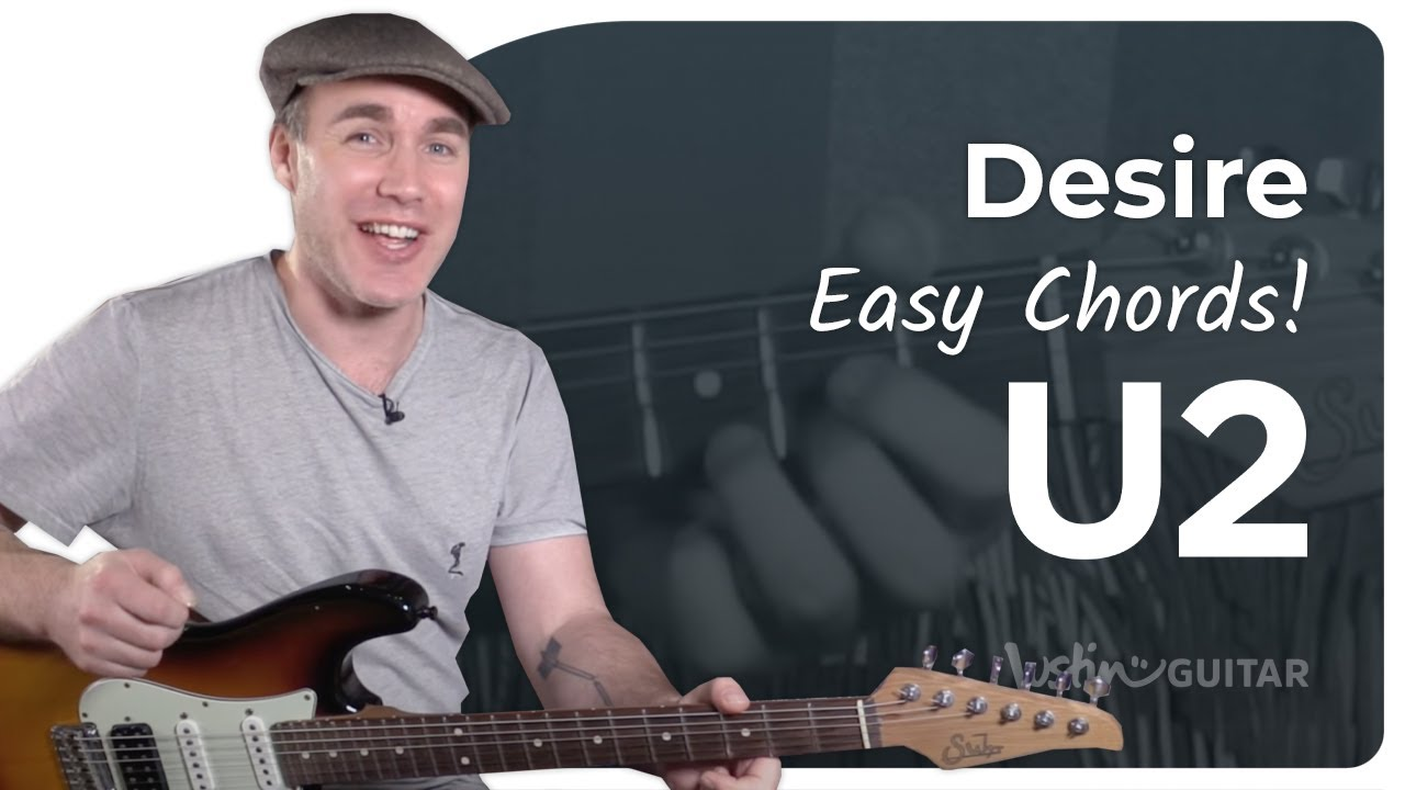 Desire – U2 – Easy Beginner Guitar Song Lesson Tutorial (BS-221)
