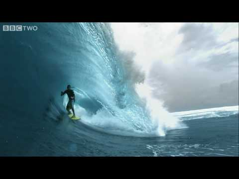 High Definition - About the programme: http://www.bbc.co.uk/southpacific HD super slow motion video of big wave surfer Dylan Longbottom in a 12 foot monster barrel - the first...