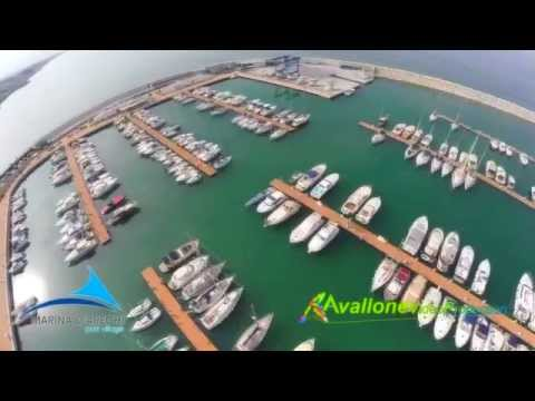 marina d'arechi salerno drone flight
