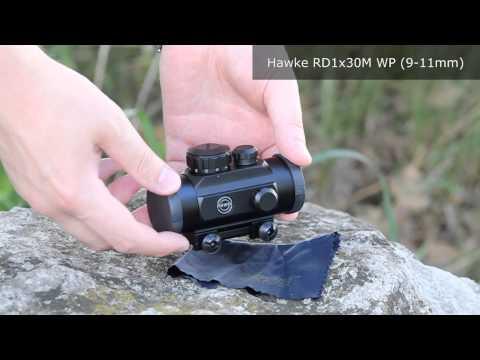 Відео огляд  коліматорного прицілу Hawke RD1x30M WP (Weaver)