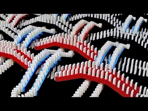 Spectacular Domino Rally Stunt Screen Link