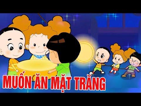 BỐ ĐẦU NHỎ CON ĐẦU TO: Ăn Mặt Trăng - Phim hoạt hình biên soạn cho trẻ em 2019 - Thời lượng: 10 phút.
