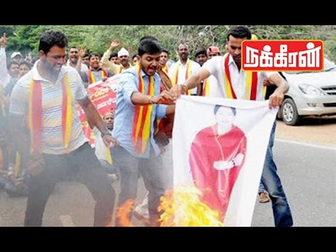 Kannada-Groups-Protest-Against-Jayalalitha-Cauvery-water-sharing-issue