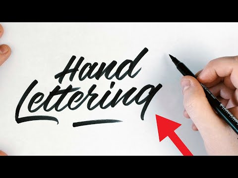 How To: Calligraphy & Hand Lettering For Beginners Tutorial + Ideas