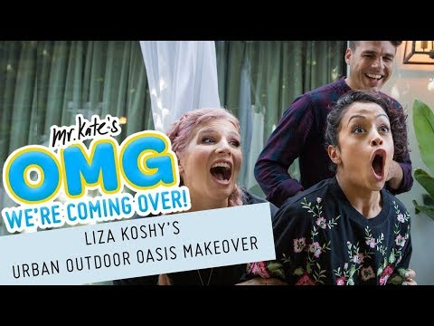 Liza Koshy's Urban Outdoor Oasis Makeover!   OMG We're Coming Over