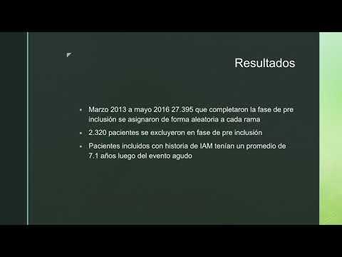Estudio COMPASS.  Dra. María Laura Mori. Residencia de Cardiología Hospital C. Argerich. Buenos Aires