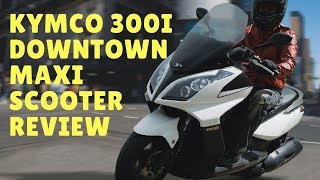 10. 2018 KYMCO 300i Downtown Maxi Scooter Review   Motorcycle-sport!