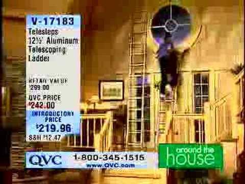 Man Falls off Ladder on QVC