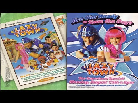 LazyTown - Nick Jr/Noggin Ads, Bumpers, Promos, and Shorts Collection (2004-2010) ~Nostalgia~