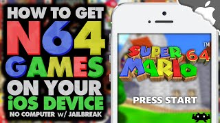 RetroArch: How To Get N64 Games on your iOS 9 Device! (JAILBREAK) (NO COMPUTER) iPhone iPad iPod, ios 9, ios, iphone, ios 9 ra mat