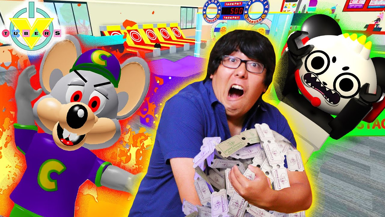 ESCAPE CHUCK E CHEESE! Roblox obby with Chuck E Cheese Let's Play with Ryan's Daddy! - YouTube