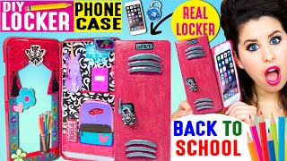 DIY Locker Phone Case | Use An iPhone Case As A REAL Locker | Hide Candy & Back To School Items! by GlitterForever17