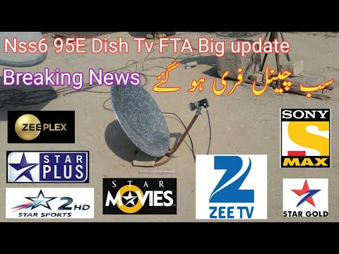 Nss6 95e dish Tv Big update FTA channel Breaking News