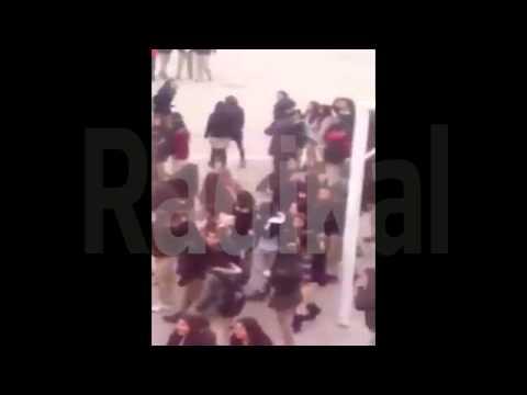 'Kadına şiddete hayır' diyen öğrencilere şiddet!