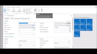 Adding a New Contact to a Customer in Dynamics 365 for Financials - Project Madeira