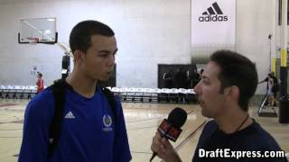 Gabe York DraftExpress 2011 adidas Nations Interview & Practice Footage