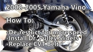 4. 2002-2005 Yamaha Vino: How to de-restrict and install Dr. Pully Sliders