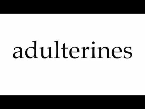 How to Pronounce adulterines
