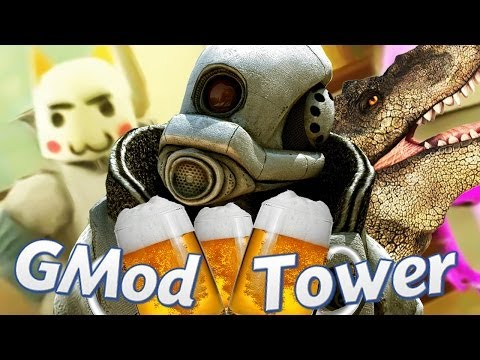 CINCO BORRACHOS, UN DINOSAURIO Y UN CINE | Gmod Tower