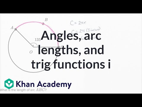 Angles Arc Lengths And Trig Functions Basic Example Video