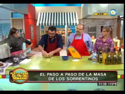 Masa de sorrentinos domingueros