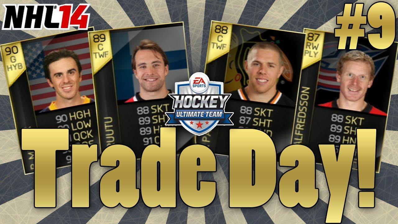 NHL 14 Hockey Ultimate Team Trade Day #9 (PS3)   TOTW R.Miller, T.Ruutu, J.Pavelski, D.Alfredsson