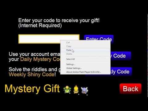 Omega Pokemon Ruby Mystery Gift Codes