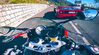 Kto lepszy BMW S1000RR vs Ferrari F40!
