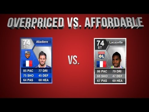 FIFA 13 | OverPriced vs Affordable EP 21: ToTS Aliadiere vs Lacazette
