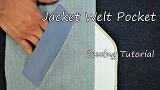 Video How to sew a welt pocket (Jacket) - Japanese sewing factory MP3, 3GP, MP4, WEBM, AVI, FLV Oktober 2018