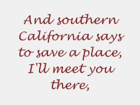 Southern California wants to be western New York lyrics.wmv
