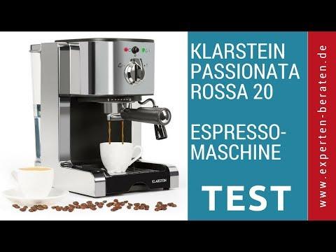 """► Unboxing- und Test-Video der Espressomaschine """"Passionata Rossa 20"""" von Klarstein auf Deutsch ☑"""