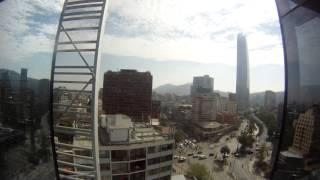 Timelapse atardecer Costanera Center - Vista Edificio Territoria