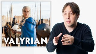 Video Game of Thrones Language Creator Reviews People Speaking Valyrian and Dothraki | Vanity Fair MP3, 3GP, MP4, WEBM, AVI, FLV Mei 2019