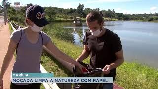 Marília: ambientalistas e atletas de rapel se unem para limpar margens de vale