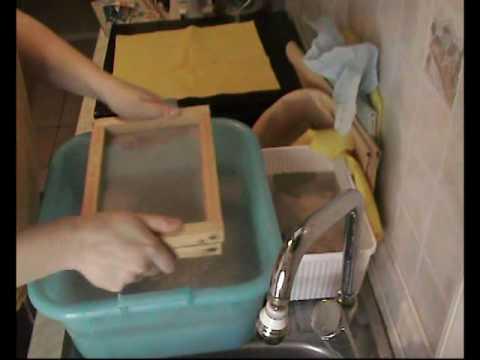 Realizzare carta fatta a mano