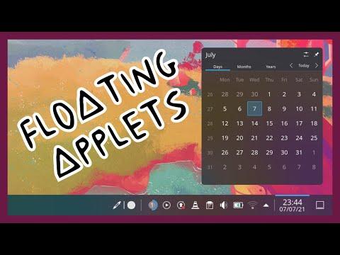 KDE Floating Applets
