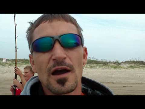 Bull Redfish While Surf Fishing for Sharks – Matagorda, TX