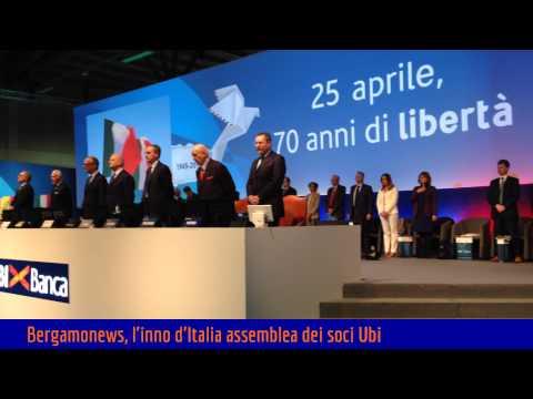 L'inno d'Italia all'assemblea soci Ubi Banca