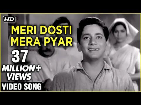 Meri Dosti Mera Pyar Video Song   Dosti   Mohammad Rafi Hit Songs   Laxmikant Pyarelal