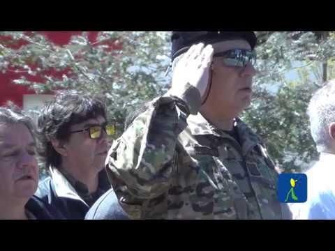 EMOTIVO ACTO EN LA PLAZA 25 DE MAYO: 14º ENCUENTRO DE VETERANOS DE MALVINAS TRIPULACION DESTRUCTOR ARA PY