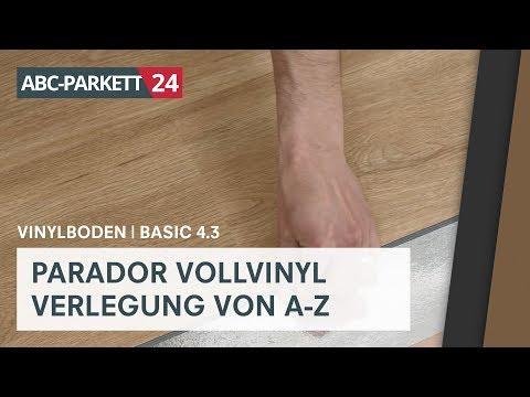 PARADOR Klick-Vollvinyl Basic 4.3 richtig verlegen