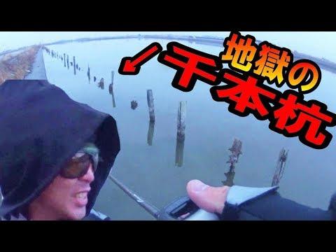 真冬のバス釣り修行!雨降る霞ヶ浦「千本杭」で心を折られてきた!