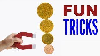 Прикольные трюки с монетами и магнитом