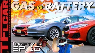 Can a Tesla Model 3 Embarrass a New BMW M2 & M850i in a Quarter Mile Drag Race? - Thrifty 3 Ep.10 by The Fast Lane Car