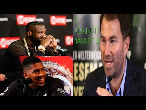 Breaking News: Eddie Hearn Say's Ecstatic Wilder Vs Joshua Is Huge Risk For ,could Lose Says Hearn