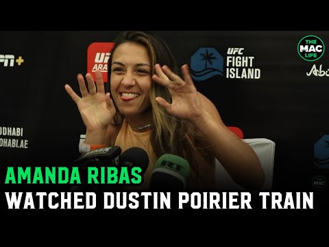 Amanda Ribas says after seeing Dustin Poirier train, she's picking him to beat Conor McGregor