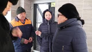 Надземный переход. Дворец спорта. Усть-Каменогорск. 12.01.2019